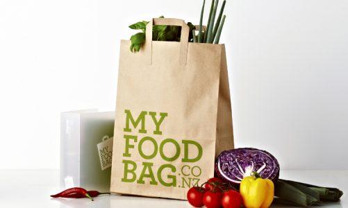 in túi giấy chứa đựng thức ăn