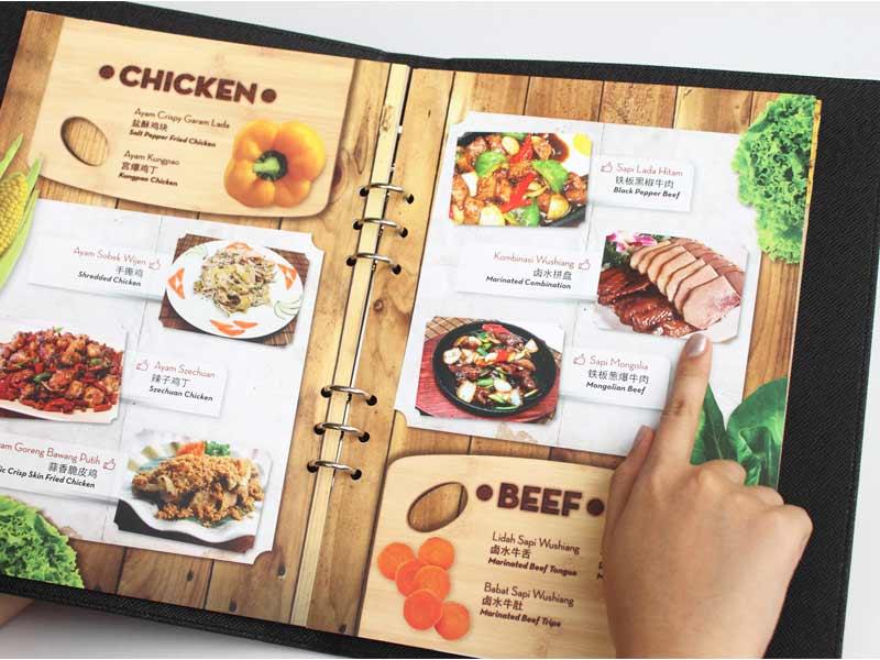 cách làm menu đẹp