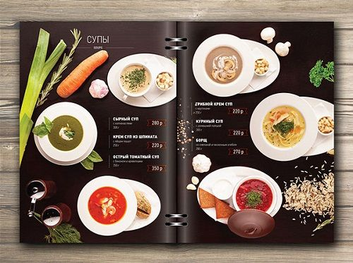thiết kế menu nhà hàng đẹp mắt