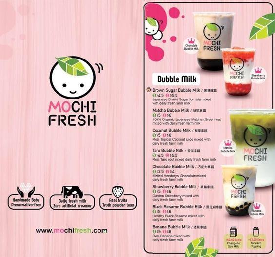 thiết kế menu trà sữa ấn tượng